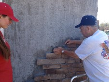 4/16/12 Norman Hargraves putting up a stone