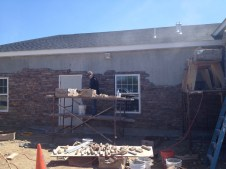 4/28/12 Working on the Sunday School wing front