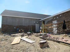 4/9/12 progress–wall is getting taller!