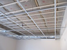 4/12/12 Another Sunday School room with acoustic ceiling framework. John Buschmann & Ed Verra from Good News FWBC in Chesterfield, VA hung it for us!