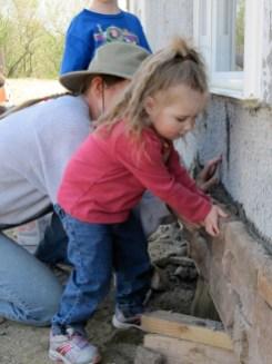 4/18/12 Nora Crain laying a stone