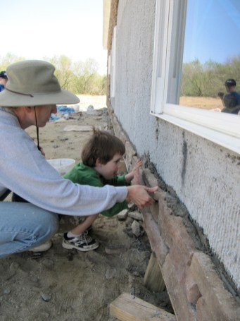 4/18/12 Billy Crain putting up a stone