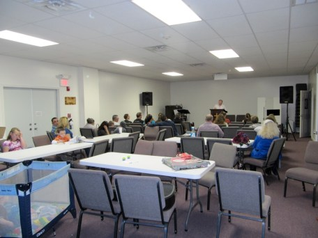 4/18/12 Tommy Goodfellow leading our Wednesday night Bible study