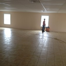 5/21/12 Devan vacuuming the fellowship hall