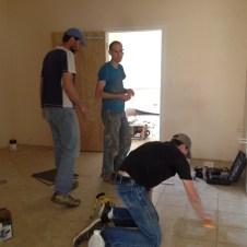 5/31/12 Pastor Bill, Matt, & Brannon working in the bathroom