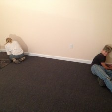 6/30/12 Anna & Devan touching up baseboards