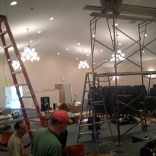 7/10/12 Pastor Bill doing the ceiling work for the sound system
