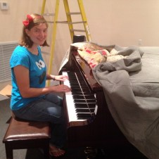 7/14/12 Michaela testing out the piano