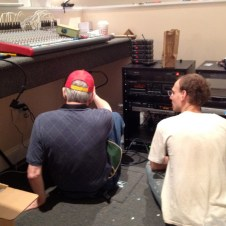 7/15/12 Pastor Nobles & Matt setting up the wiring