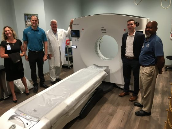 <p><p><strong>PART OF THE IMAGING TEAM</strong> — It takes people to operate the sophisticated equipment, and a few of those with the know-how appear together during a tour of Radiology Associates' new facility at Halifax Health in Deltona. From left are Erin Jefferson, John Gianini, M.D., Steven Miles, M.D., Matt Stephens and Herman Parker. Stephens handles marketing for Radiology Associates.</p></p><p></p>