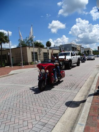 <p><p>The protesters marched and rode to the steps of the Historic Volusia County Courthouse.</p></p><p></p>