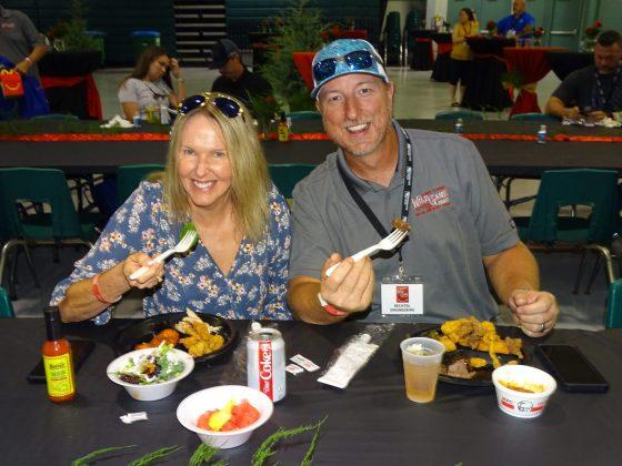 <p><p>Charlie and Greta Peterson enjoy the chow</p></p><p></p>