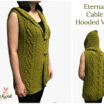 Crochet Cable Hooded Vest Crochet Hooded Vest Free Pattern
