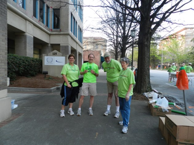 Water Station Crew Preparing for the Runners