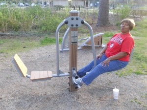 Stop by Glenlake Park and try out the Adult Exercise Equipment