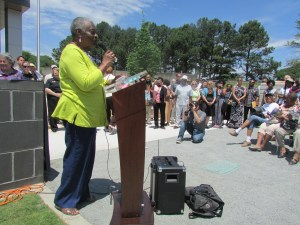 Elizabeth Wilson Welcomes Attendees at the Beacon Dedication