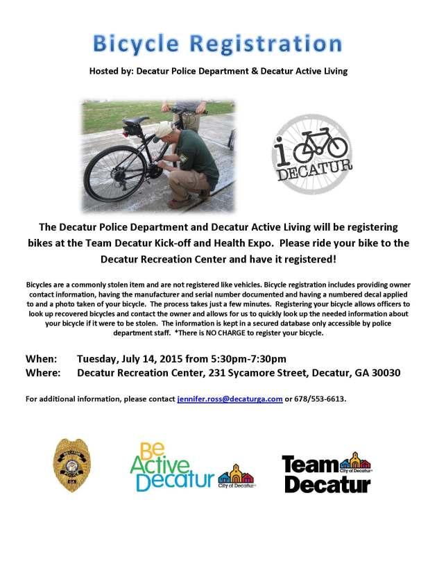 Team Decatur Kickoff Bike Registration