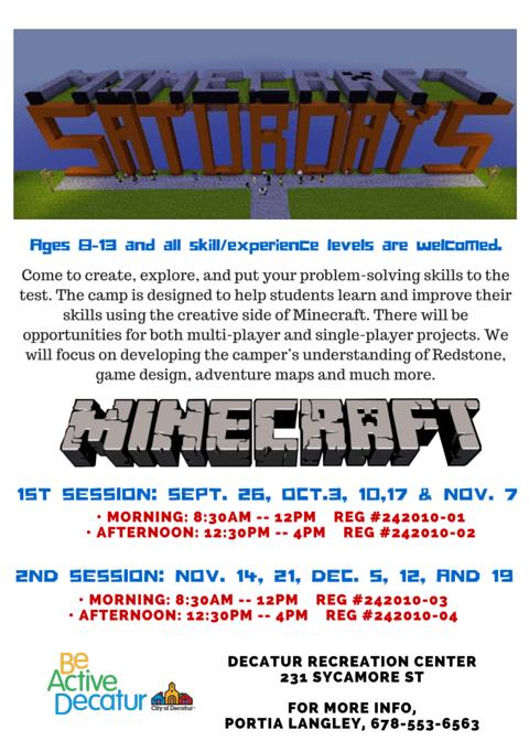 Minecraft Saturdays