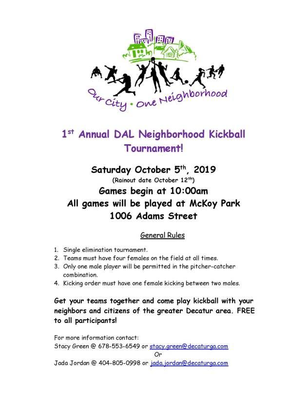 DAL Neighborhood Kickball Tourn Flyer