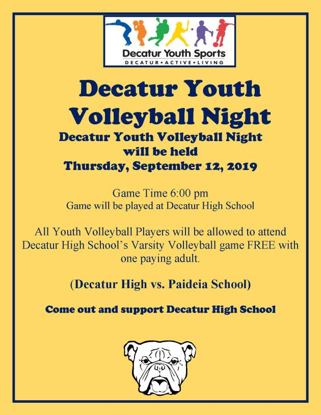 Decatur Youth Volleyball Night
