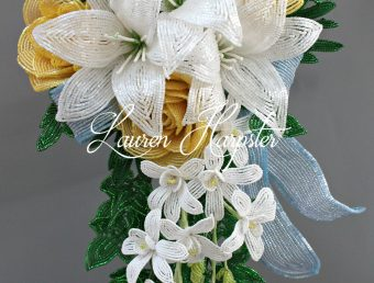 French Beaded wedding bouquet by Lauren Harpster