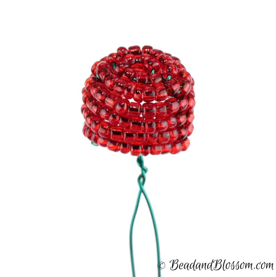 french beading technique tutorial - Beehive - by Lauren Harpster
