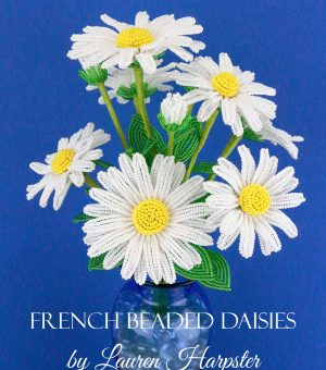 French Beaded Daisies by Lauren Harpster from Bead and Blossom
