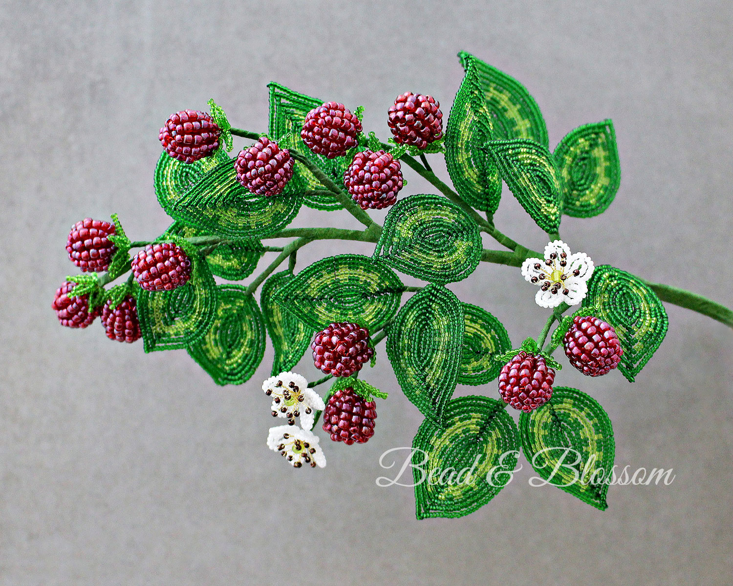 French Beaded Raspberry master class by Lauren Harpster and Suzanne Steffenson