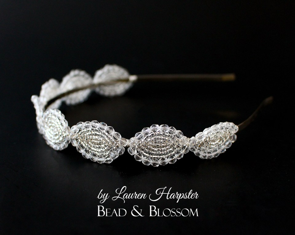 French Beaded Headband by Lauren Harpster
