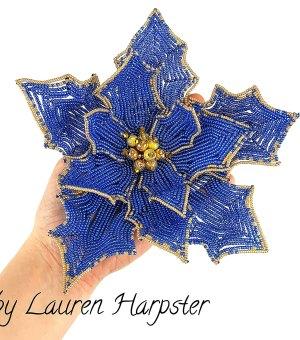 French Beaded Poinsettia by Lauren Harpster