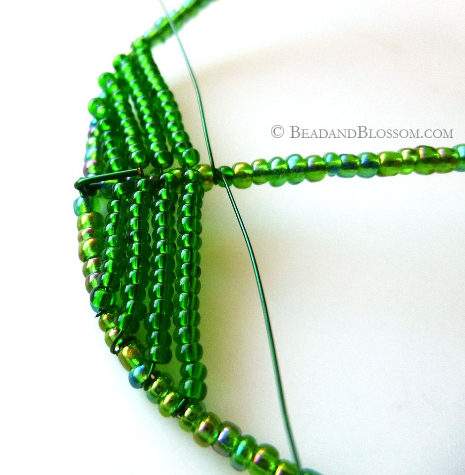 French Beading Tutorials - Antique Venetian Frame technique - from Bead & Blossom