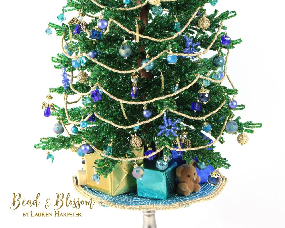 French Beaded Christmas Tree by Lauren Harpster