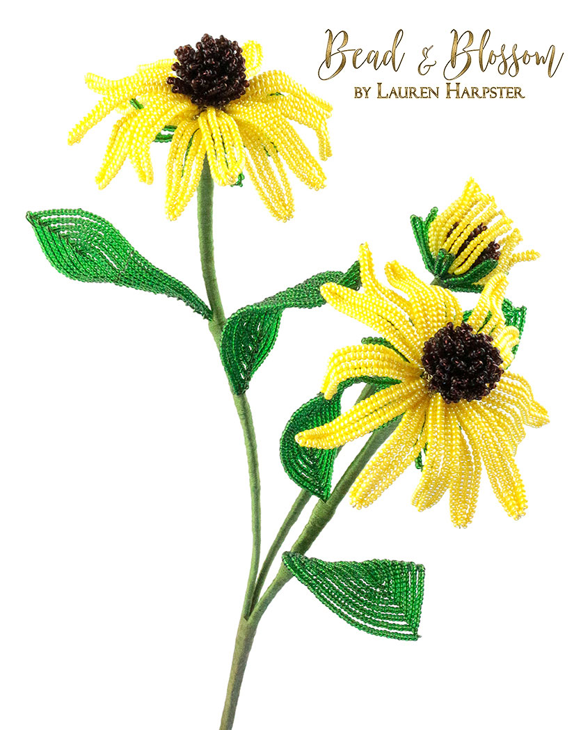 French Beaded Black-Eyed Susan by Lauren Harpster