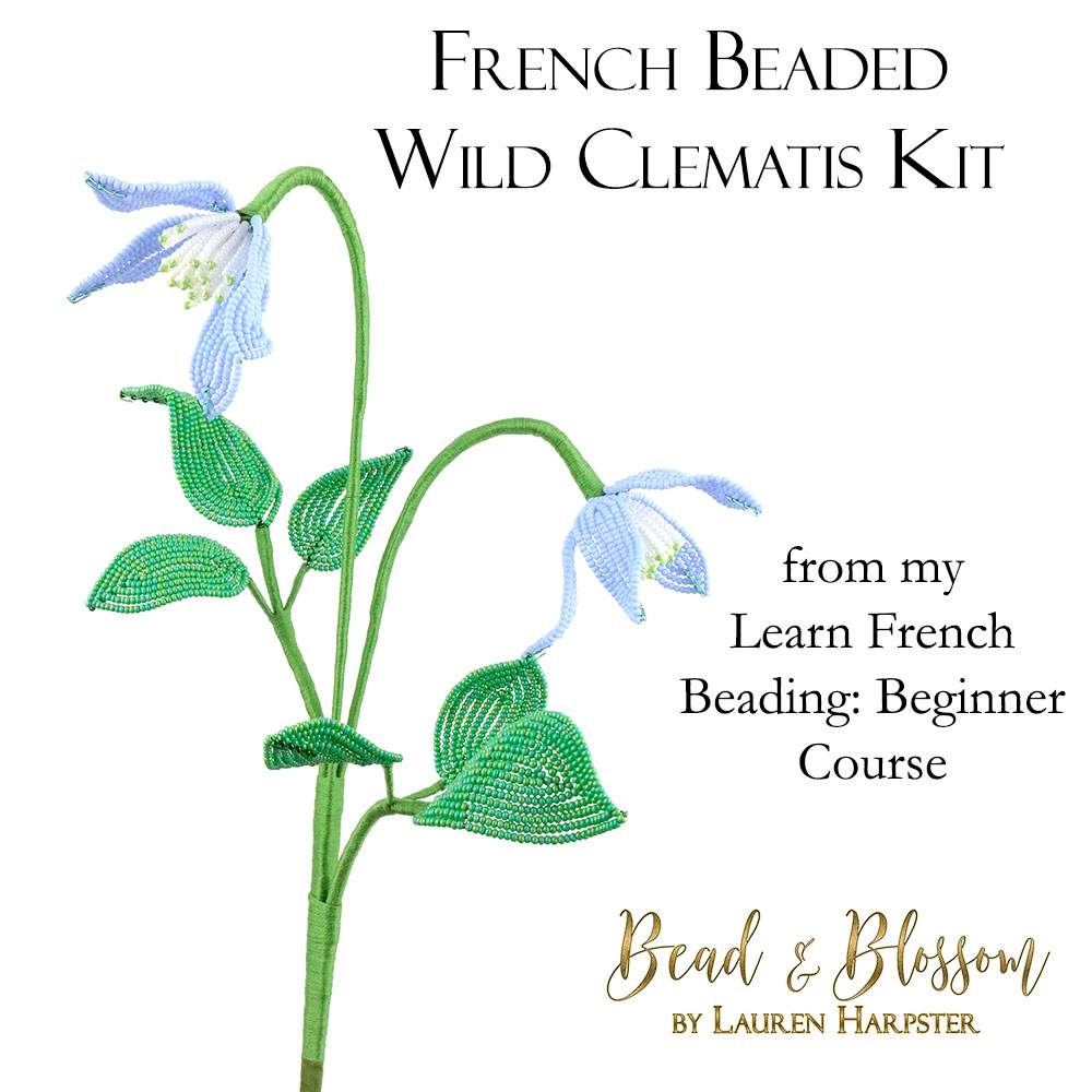 French Beaded Wild Clematis by Lauren Harpster