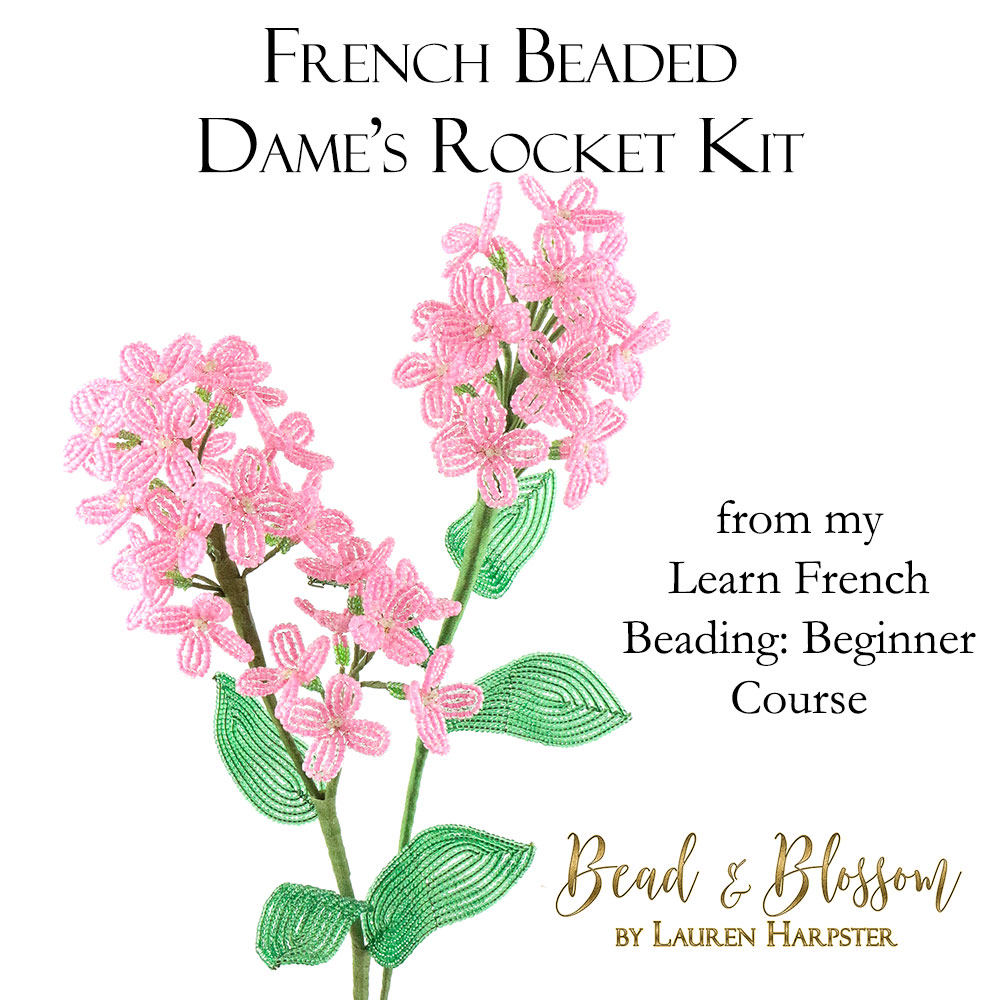 French Beaded Dame's Rocket by Lauren Harpster