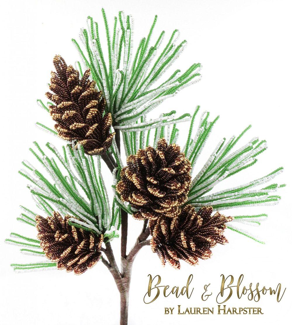 French Beaded Pinecones by Lauren Harpster