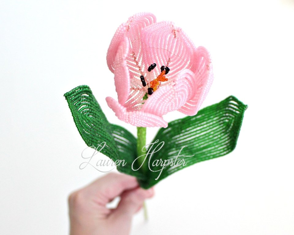 French Beaded Tulip by Lauren Harpster