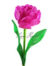 French Beaded Double Tulip by Lauren Harpster