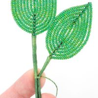 Free French Beading Tutorials - Flossing the Stem - Bead & Blossom