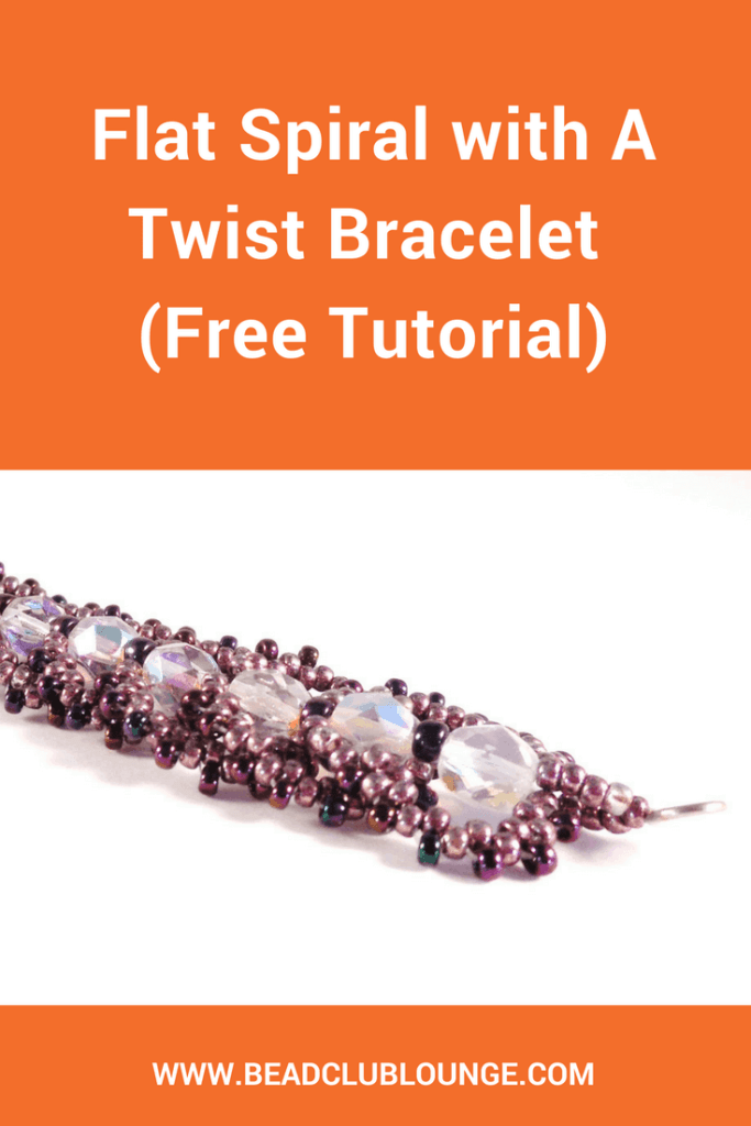 Try this free bracelet beading pattern called Flat Spiral With A Twist. It combines the popular Flat Spiral Stitch with Peyote Stitch.