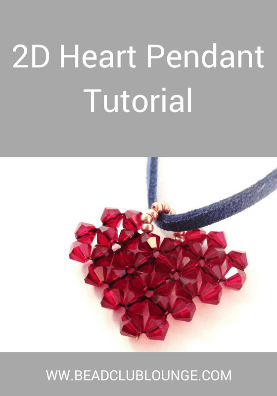 Make a beaded heart pendant using this easy-to-follow beading tutorial with step-by-step photos and detailed instructions.