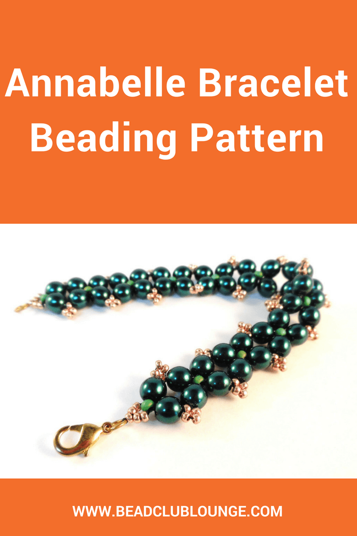 The Annabelle Bracelet beading pattern is a great beginner project. Use Right Angle Weave to create this elegant bracelet with a pretty picot detail.