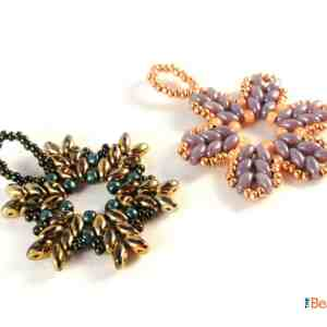 Get this 2-in-1 beading pattern bundle and learn how to make a gorgeous SuperDuo Snowflake or Flower—a project suitable for any season.