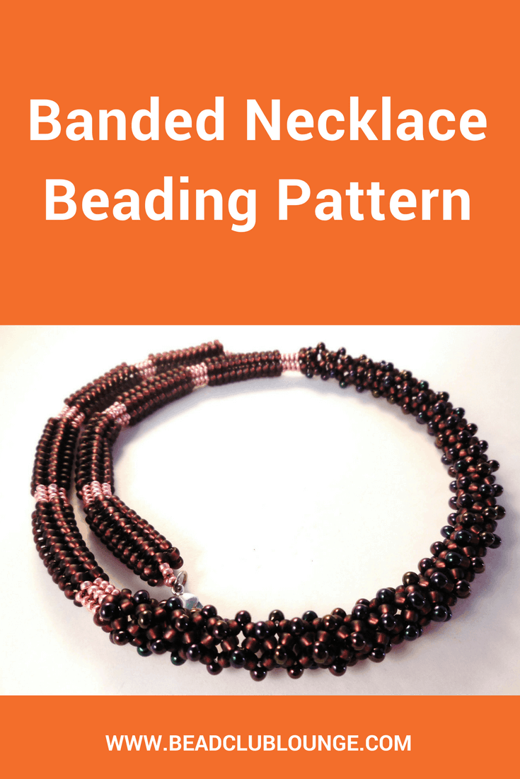 Celebrate your unique personality with the Banded Necklace! This beaded necklace is made using Chenille Stitch and Tubular Herringbone Stitch.