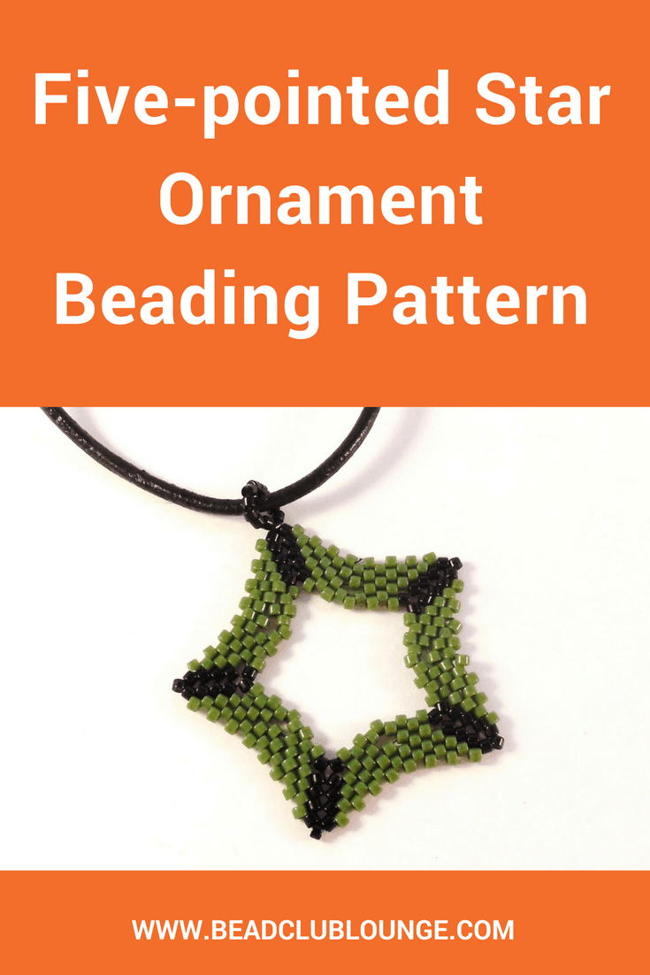 Create your own Christmas ornament with the Five-pointed Star Ornament beading tutorial. The beaded star can then be hung on your Christmas tree!