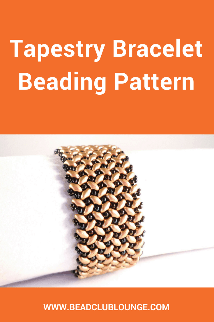 The Tapestry bracelet beading pattern uses MiniDuo beads and seed beads to create a beautiful woven pattern.Stunning designs don't need to be complicated!