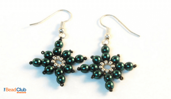 Create your own beaded Christmas earrings using the Icy Snowflake Earrings beading pattern. This tutorial will surely add to your festive mood!