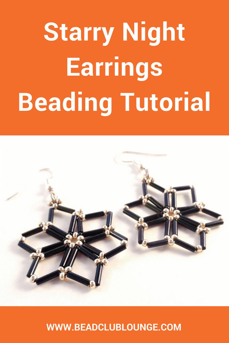 Add some holiday cheer to your outfits by accessorizing with the Starry Night Earrings. Use this beading pattern to create your own!