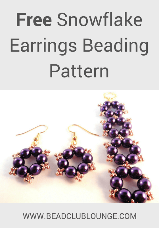 Try this beginner Christmas beading pattern and create your own pair of beading earrings for the holidays!