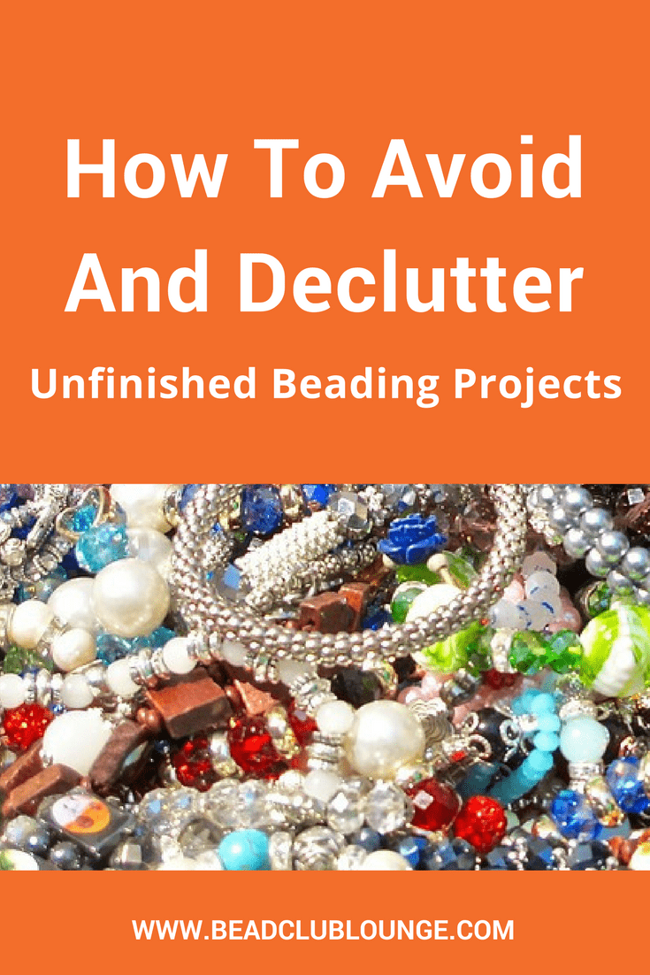 Have a pile of incomplete beaded jewelry lying around your home? Use these tips to avoid and declutter unfinished beading projects. #beading #jewelrymaking #beadwork #organization